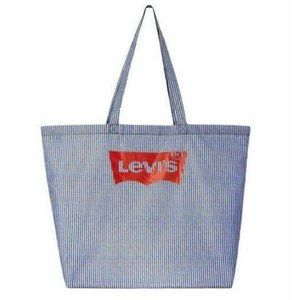 Levi's X Target  NAVY/WHITE STRIPED Tote Red Logo
